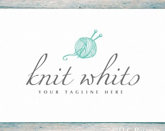 Crochet Logo, Knitting Logo, Crafting Logo, Custom Logo, Premade Logo Design, Custom Logo, Yarn Logo