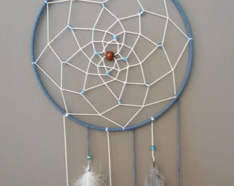 Beautiful Handmade Beaded Dream Catcher With Feathers. Awesome Gift!