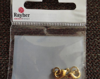 Set of 2 clasps Carabinieri 9.5 mm with ring rayher beads