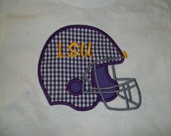Short Sleeve Toddler's Football Helmet Tshirt - Toddler Sizes 6 months to size 5/6
