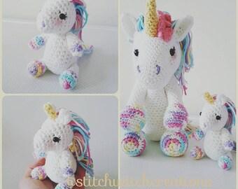 Free Amigurumi Unicorn Pattern : Lavender unicorn crochet pattern only not a finished product