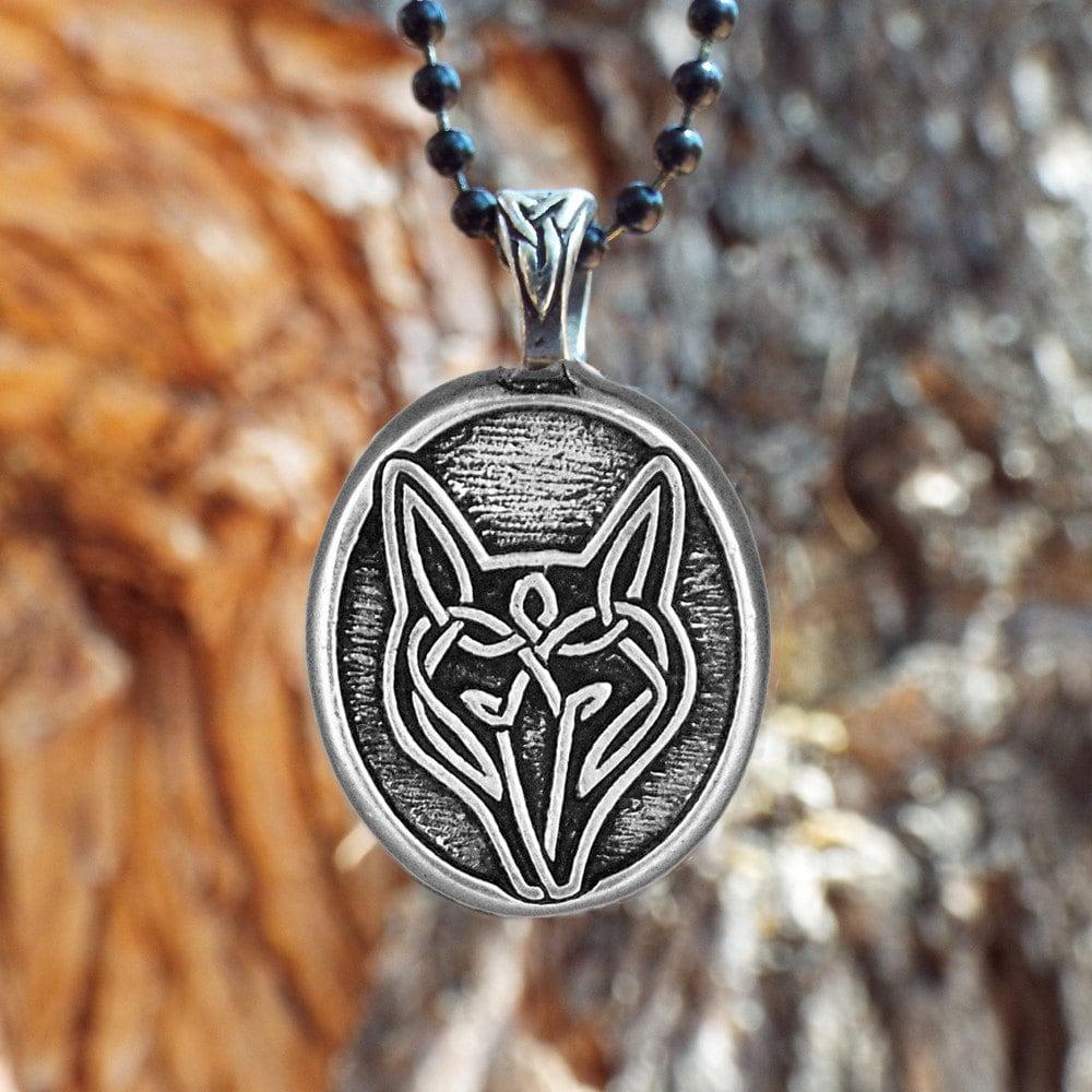 Wolf necklace celtic wolf pendant live bold trust zoom buycottarizona