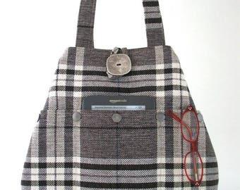 hobo bag, unique handbag, tote bag, hobo purse, shoulder tote, hobo handbag, shoulder bag,  fabric hobo bag, bag with pockets