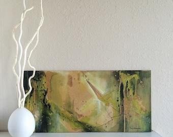 "Original Abstract Acrylic Painting - 12"" x 24"""