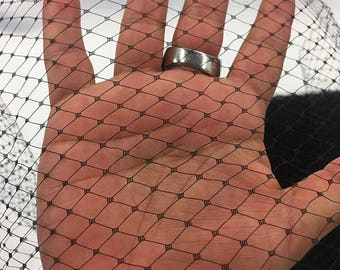 Black 9 inches Birdcage bridal veil netting - french net design- wedding-bridal-prom-nightgown-decorations-sold by the yard FREE SHIPPING!!