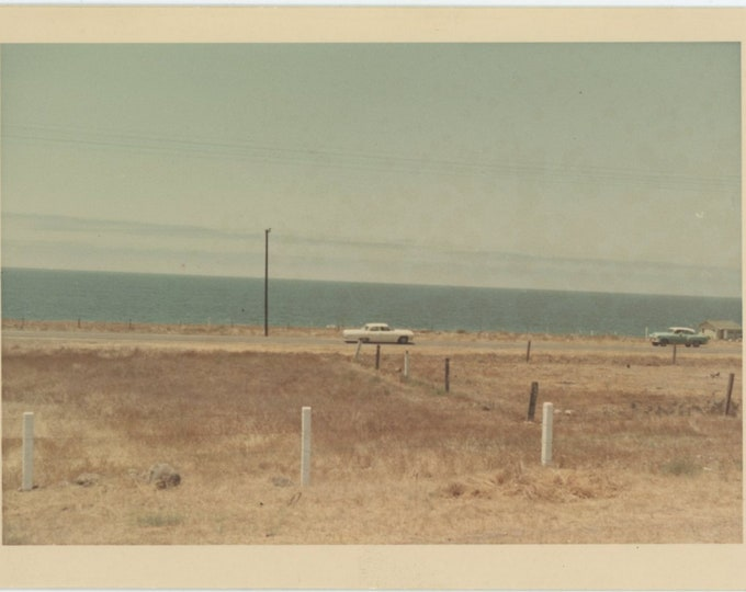 Vintage Snapshot Photo: Coast Road [84669]