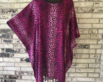 Plus Size Lightweight Animal Print Tunic