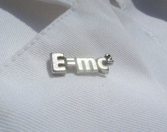 Mass Energy Equivalence Equation Lapel Pin - CC211- Science Pins- Equation Pins- Einstein Pins