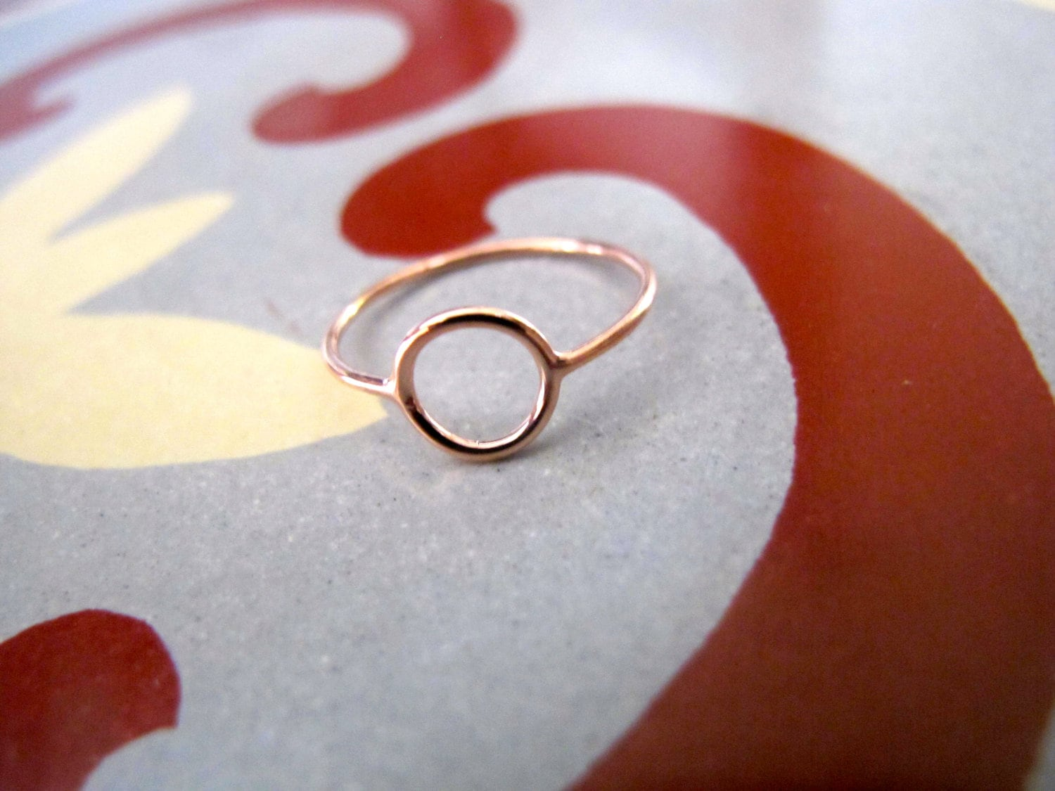 Rose Gold Thin Circle Ring Thin Band Gold Jewelry Eternity