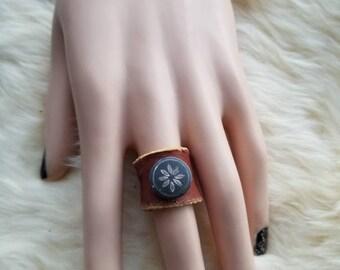 Leather Treasure Ring