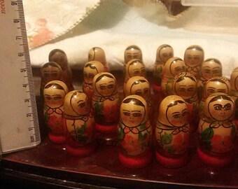 21 russian matryoshka dolls