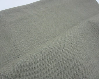 Sage green Woven Cotton Toweling for applique or cross stitch-1 yard