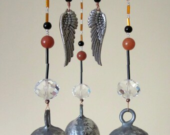 Wild Winged Wind Chime Beaded Mobile Sun Catcher