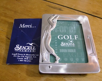 Seagull Pewter Golf Photo Frame