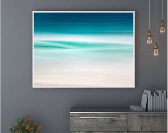 Blue Abstract Canvas Large Canvas, XXL, Seascape, Extra large wall art, Teal, Blue, Huge Canvas, Extra large, livingroom decor, home decor