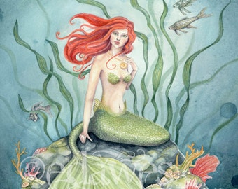 Little Mermaid 7x10 Art Print