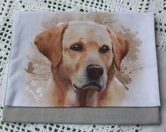 Brown LABRADOR or RETRIEVER breed dog pouch