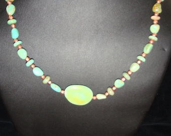 Campo Frio Turquoise and Copper Necklace and Earrings Set