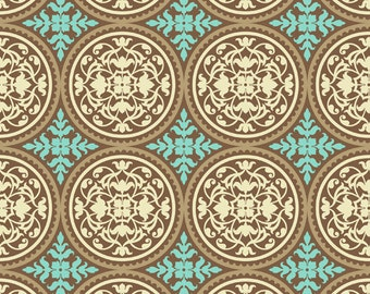 Joel Dewberry - AVIARY 2 - Scrollwork in Caramel  JD44 - Free Spirit Fabric - 1 Yard