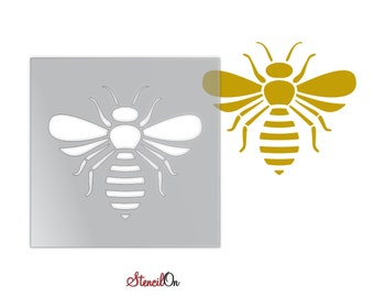 """Bumble Bee Stencil for Crafts and Walls - Reusable Mylar - Sizes 1"""" to 21"""""""