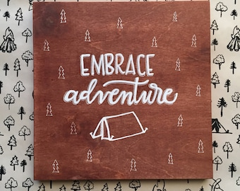 Wood Canvas / Adventure / Outdoor / Ski / Mountains/ Camp / Print