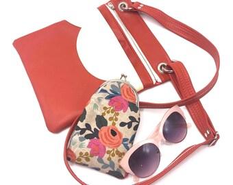 Travel Bag, Cross Body Bag, Vegan Bag, Vegan Leather, Shoulder Bag, Coral, Vegan, Vegan Gift, Vegan Handbag, Handbag, Leather Bag, Purse