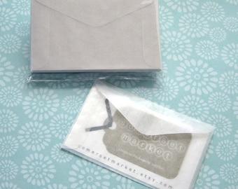 50 Mini Glassine Envelopes 3 5/8 x 2 5/16 inches - Business Card Size