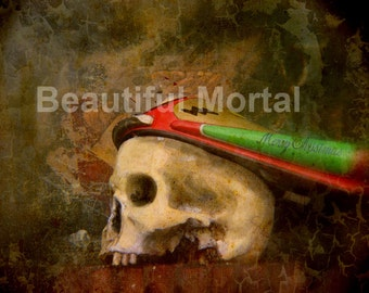 Beautiful Mortal Skull Anatomical Photo Canon PRINT 520 Reproduction by Michael brown