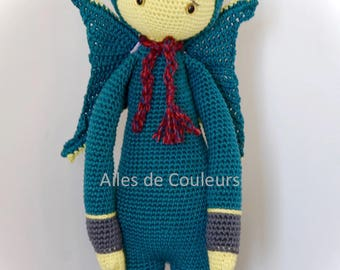 Lalylala crochet Dragon doll