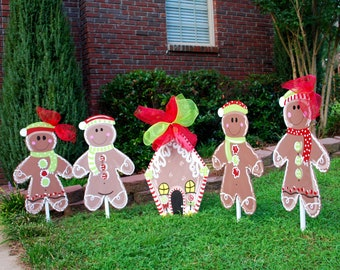 Christmas Yard Decor, Gingerbread Man, Christmas Decor, Christmas Door Hanger