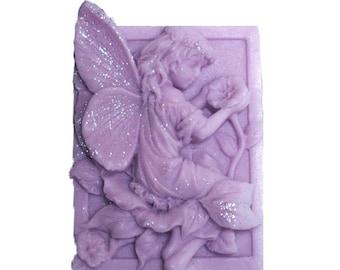 Lavender Soap - Fairy Soap  -  Organic  Soap -  Glycerin Soap  -  Moisturizing Soap - Decorative Soaps - Essential Oil Lavender