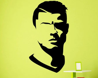 Cr7 decal etsy more colors cristiano ronaldo wall vinyl decal voltagebd Choice Image