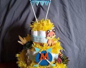 Tribal Inspired Diaper Cake