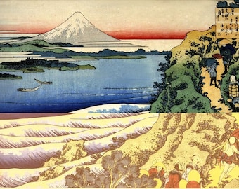 Mount Fuji Reproduction Japanese Woodblock Picture Print Poster By Katsushika Hokusai A3 A4
