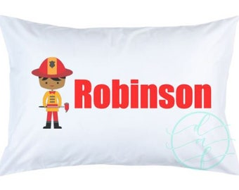 Personalized Custom Firefighter Fireman Pillowcase