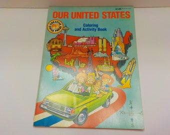 Vintage 1991 Our United States (26) Coloring And Activity Book