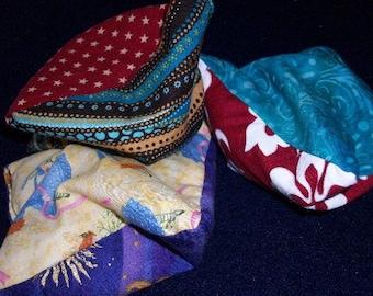 Set of 3 Colorful Handmade Bean Bags