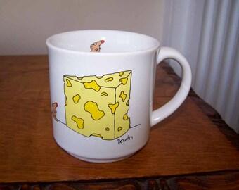 Big Cheese Mug, Sandra Boynton Mug, Coffee Mug, Tea Cup, Boynton Illustration, Dad Father Mug, Mouse and Cheese, Cheese Lover, Vintage