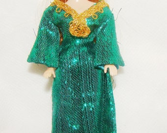 Topper Glori Doll Wearing Green Slink