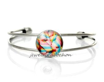 Bracelet candies silver color