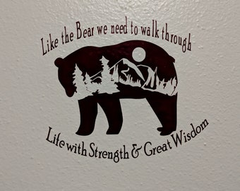 Bear Large Wall Decal