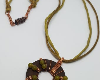 copper be green Necklace