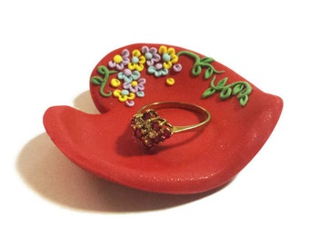 Christmas Gift Idea, Heart Trinket Dish, Personalized Wedding Favors, Heart Ring Dish, Jewelry Dish, Ring Holder, Heart Bowl, Trinket Holder