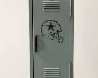 Vintage Dallas Cowboys Locker Bank /  Man Cave Decor / Coin Bank