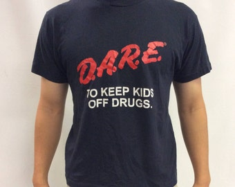 Vintage D.A.R.E Dare To Keep Kids Off Drugs Tee Shirt