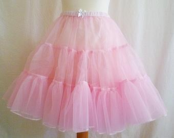Crinoline, Underskirt,Fluffy Petticoat, Pink, Womens, All Sizes, ROOBY LAnE