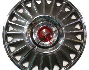 1967 Ford Mustang Hubcap Wall Clock - Muscle Car Hub Cap - Man Cave Decor - Industrial Car Part
