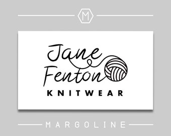 Yarn Logo Design / Knitting Logo / Crochet Logo Design / Knit Logo / Maker Logos / Premade Logos for Small Business / Logo Design