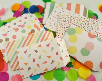 Confetti Theme Gift Card Holders // Colorful Theme Gift Card Holders // Rainbow Theme Gift Card Holders // Gift Card Envelopes - Set of 8
