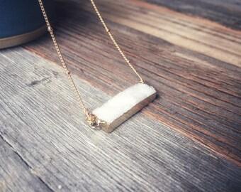Druzy Marble Necklace
